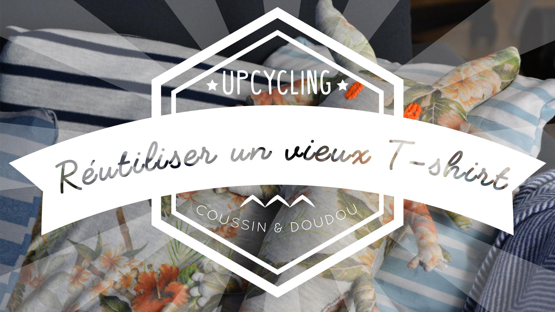 vidéo upcycling : un coussin & un doudou