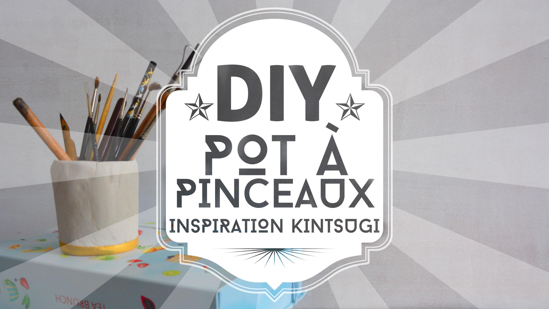 DIY : pot à pinceaux inspiration Kintsugi