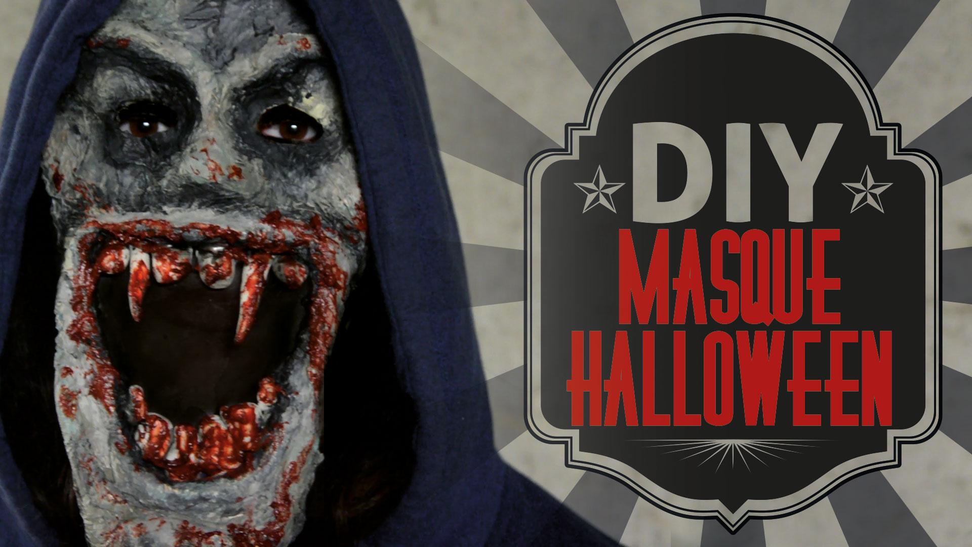 DIY : Le masque de zombie vampire d'Halloween