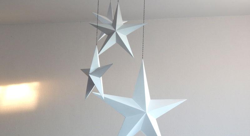 Une étoile en papier en volume