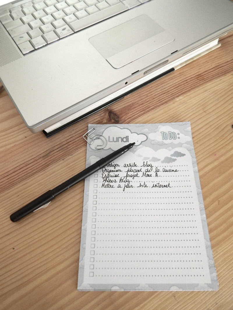 Printable : To Do List quotidienne