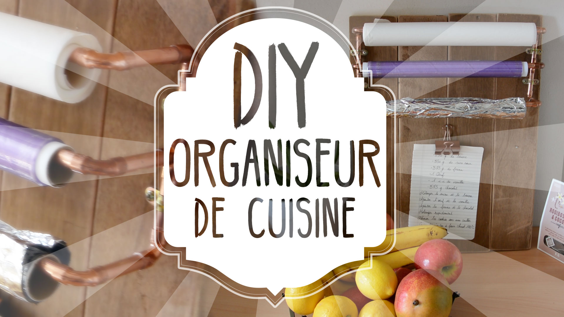 DIY : un organiseur de cuisine en tuyau de cuivre