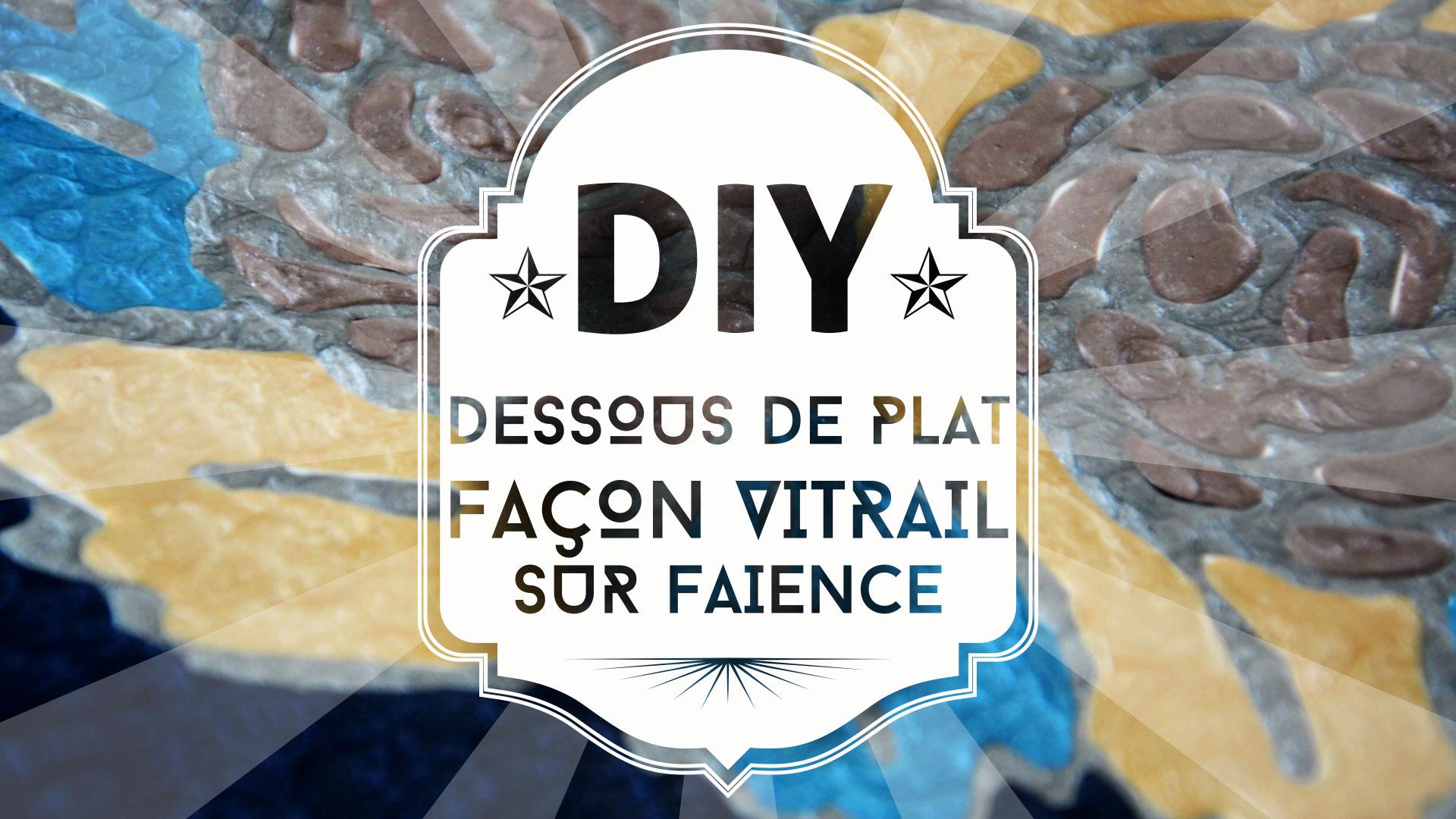 Tuto DIY : un dessous de plat peint façon vitrail