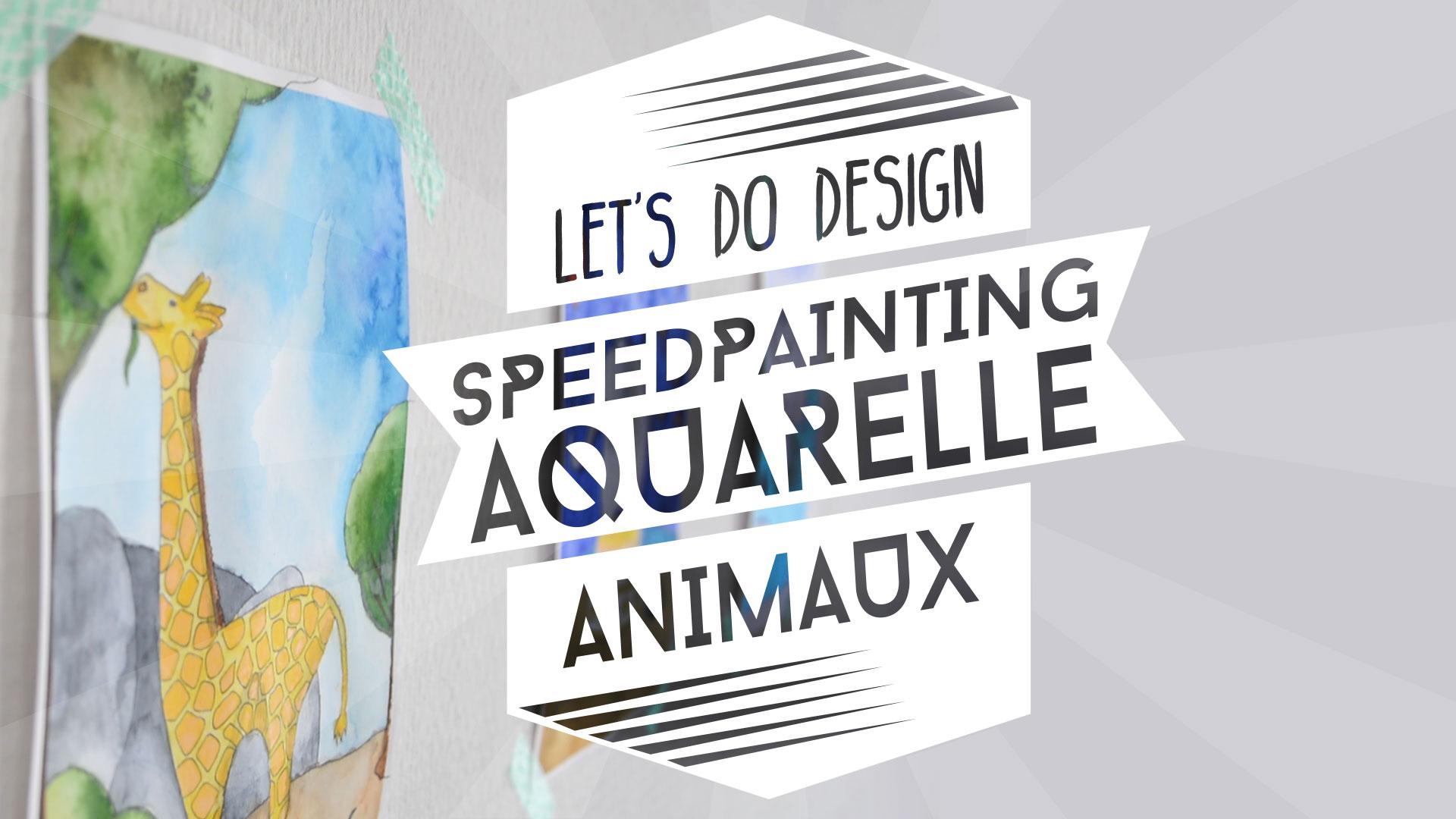 Speedpainting aquarelle Van Gogh : animaux