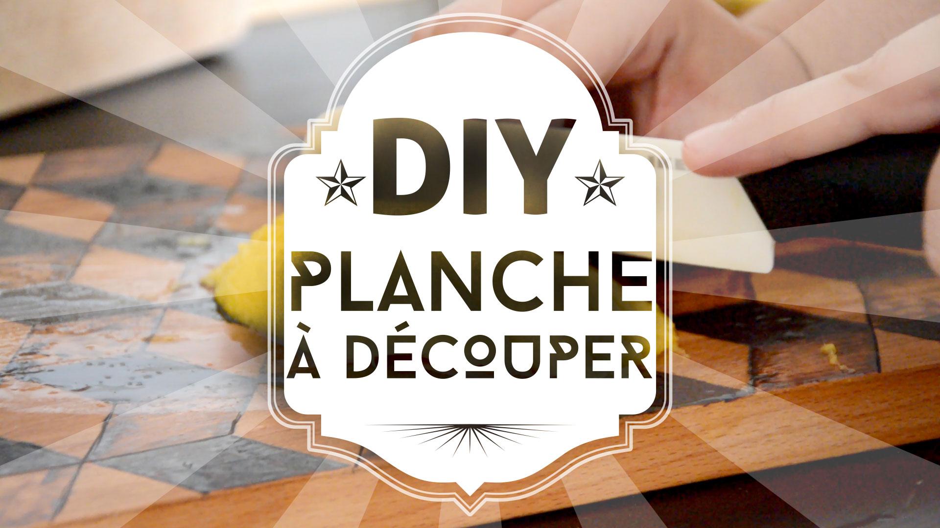 DIY : planche à découper géométrique