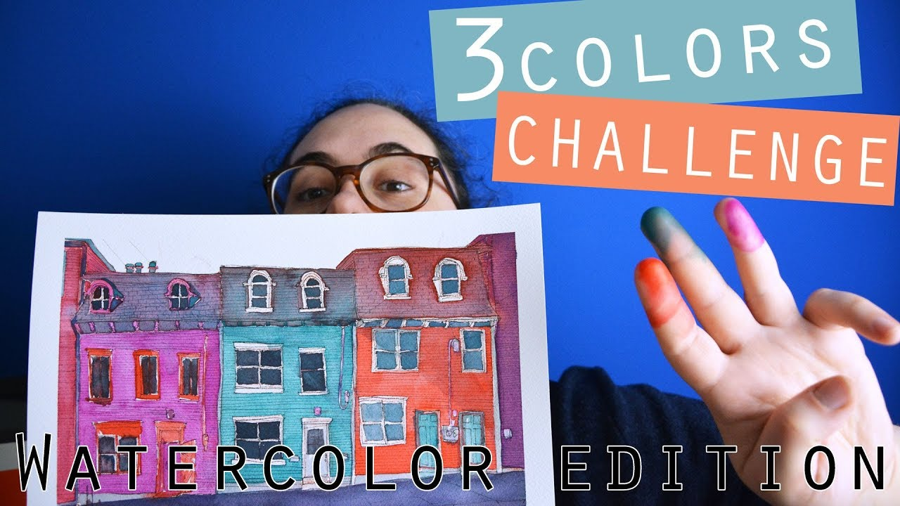 3 watercolors challenge