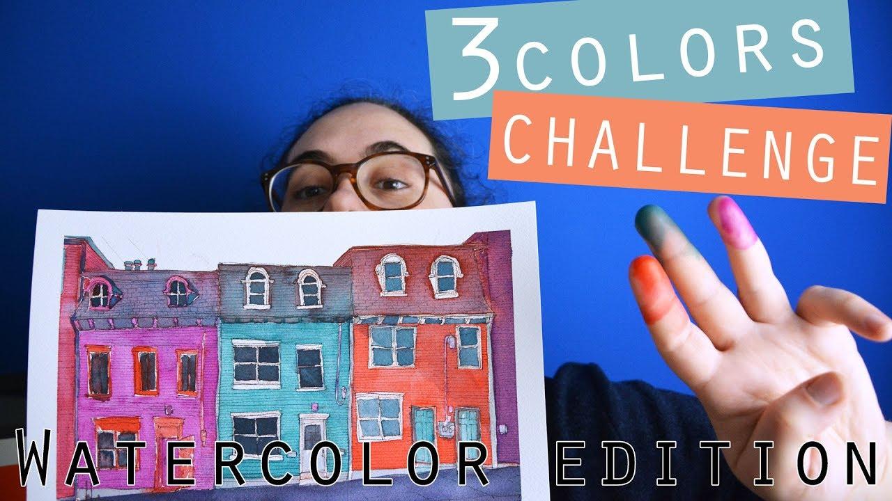 3 watercolors challenge